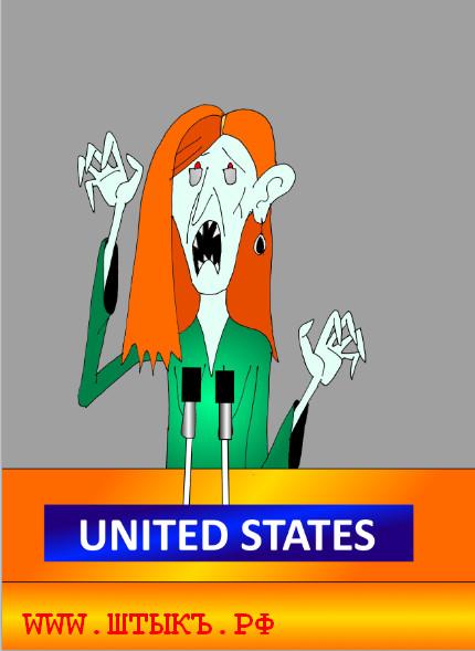Политическая карикатура на американскую крысу