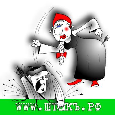 Прикольные пословицы с карикатурами про русских женщин