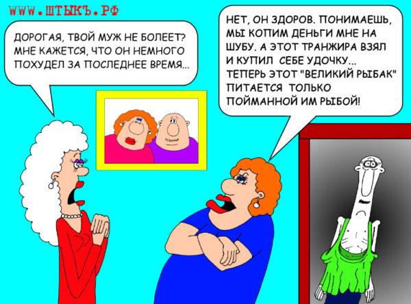 Юмор, лучшие шутки, прикольные анекдоты с карикатурами: Купить жене шубу