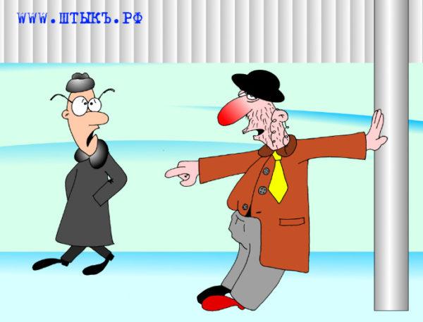 Анекдоты в карикатурах: пьяный, интеллигент и обезьяны