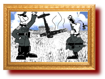 Горящие асы. юмор про войну