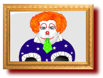 Губер-клоун с картинками