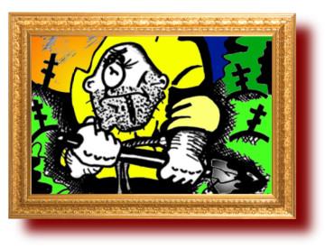 Карикатура про мышку и лопату. Юмор