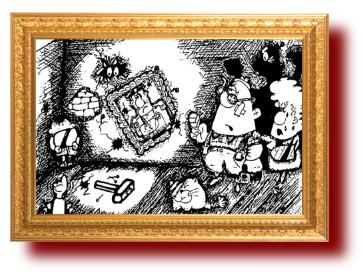 Смешная карикатура про ребенка. Юмор
