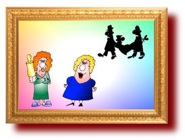 прикольные анекдоты с рисунками о семье. Примерный муж