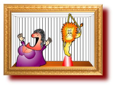 шутки с карикатурами: Смелая женщина