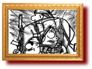 Карикатура про спецназ. Юмор