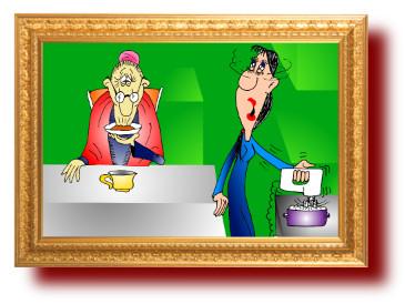 смешные шутки, карикатуры: Бабушка и внучка