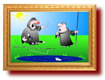 шутки с рисунками про рыбалку