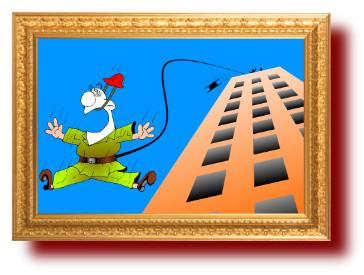 лучшие шутки в прикольных рисунках: Упал строитель