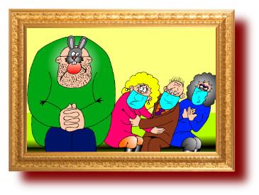 юмор, карикатуры: Папа на утреннике