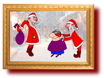 прикольные картинки: Санта Клаусы