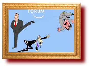 на экономическом форуме политическая сатира