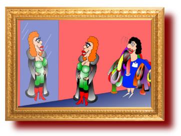 юмор с рисунками: Жена купила дорогую шубу