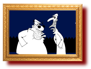 смешные карикатуры: Знакомый в полиции