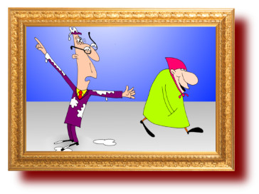 анекдоты с рисунками: Бабушка и голуби