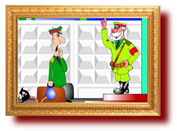 веселые анекдоты с рисунками: Дикорастущий лейтенант