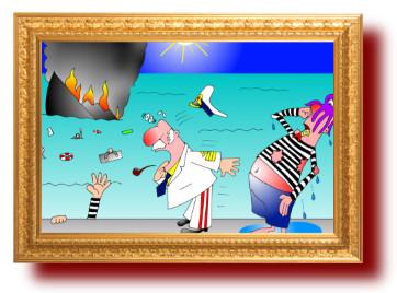 прикольные картинки и рисунки про моряков и море