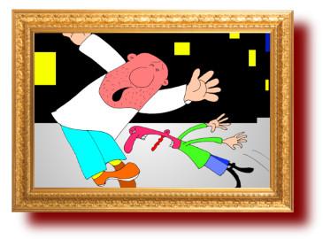 анекдоты с рисунками: Турист в Одессе