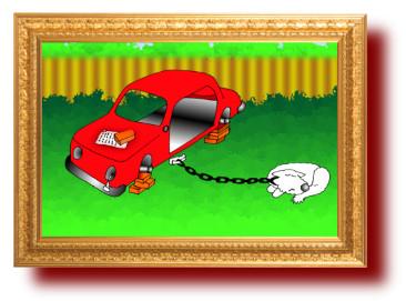 анекдоты с рисунками про надежную охрану