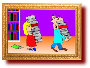 карикатуры с приколами: Книги и люди