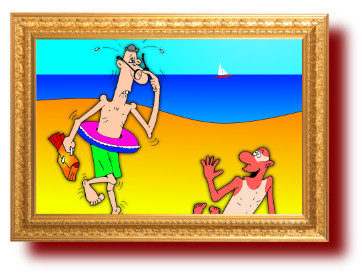 юмор с веселыми рисунками: Интеллигент и море
