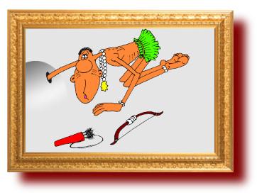 Африканская шутливая пословица с картинкой про охотника