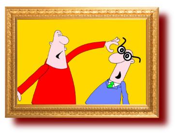 юмор с рисунками: Друзья очкарика