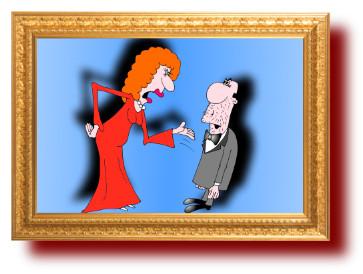 анекдот в карикатурах про культпоход в театр