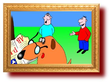 Ученая собака. Приколы в картинках