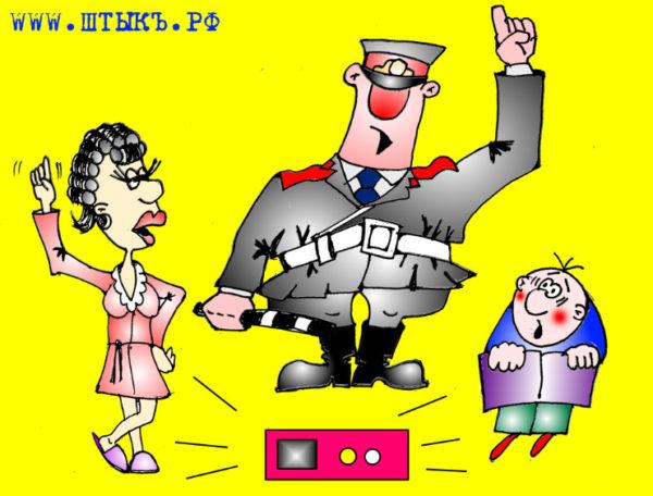 Приколы, анекдоты, шутки, юмор, карикатуры: Детектор лжи в полиции