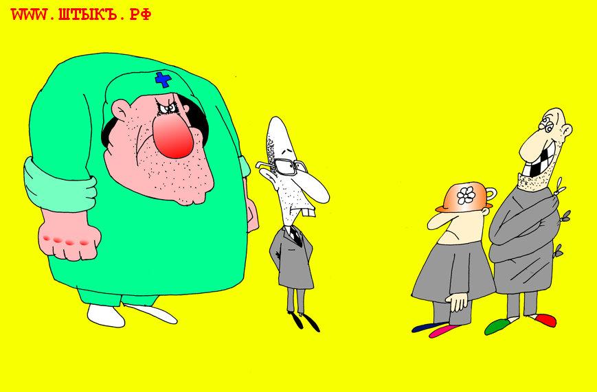 Политическая карикатура на главу правительства