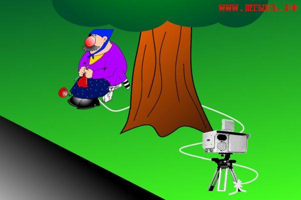 Карикатура на гаишника с камерой