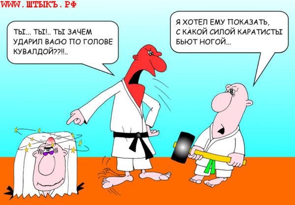 "Анекдоты, ""умора"", шутки, лучший юмор с карикатурами: Кувалда сильнее карате"