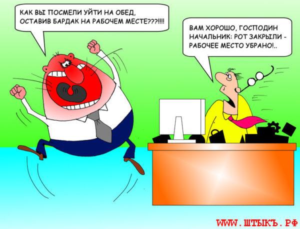 Юмор, приколы, анекдоты, картинки: Порядок на рабочем столе