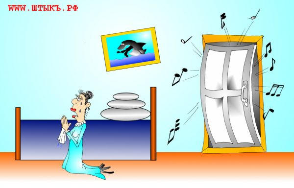 Прикольная карикатура про акулу