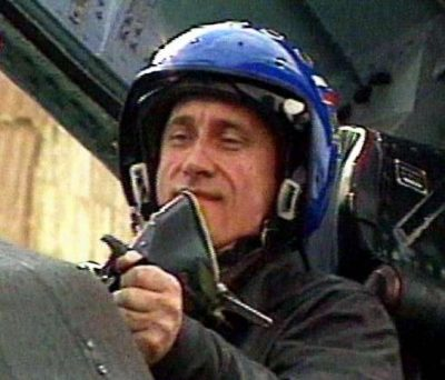 Путин в самолете
