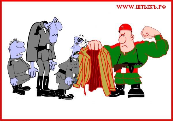 Анекдоты, юмор, шутки с карикатурами про советских солдат