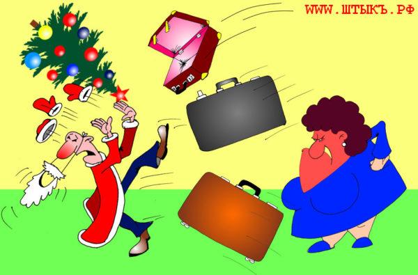 Юмор, шутки, лучшие анекдоты с веселыми рисунками: Теща в гостях