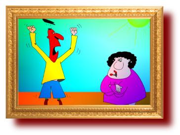 приколы, карикатуры: Как воспитать жену