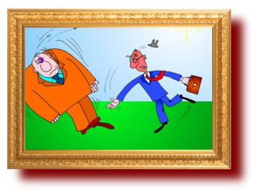 Короткие смешные анекдоты с карикатурами: про драки