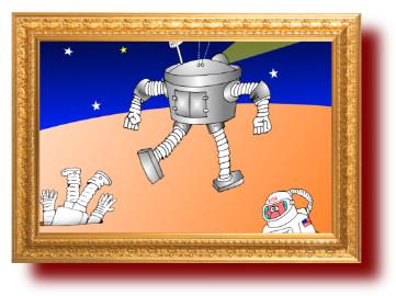 смешные рисунки про космос