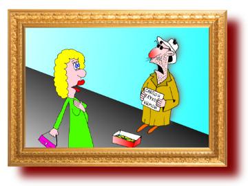 смешные рисунки: Наглый нищий