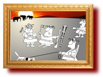 пословицы с прикольными рисунками про охоту