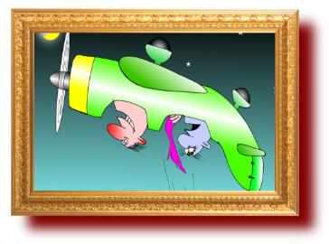 карикатуры: Только в полете живут идиоты