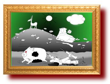 поговорки, карикатуры про охотников