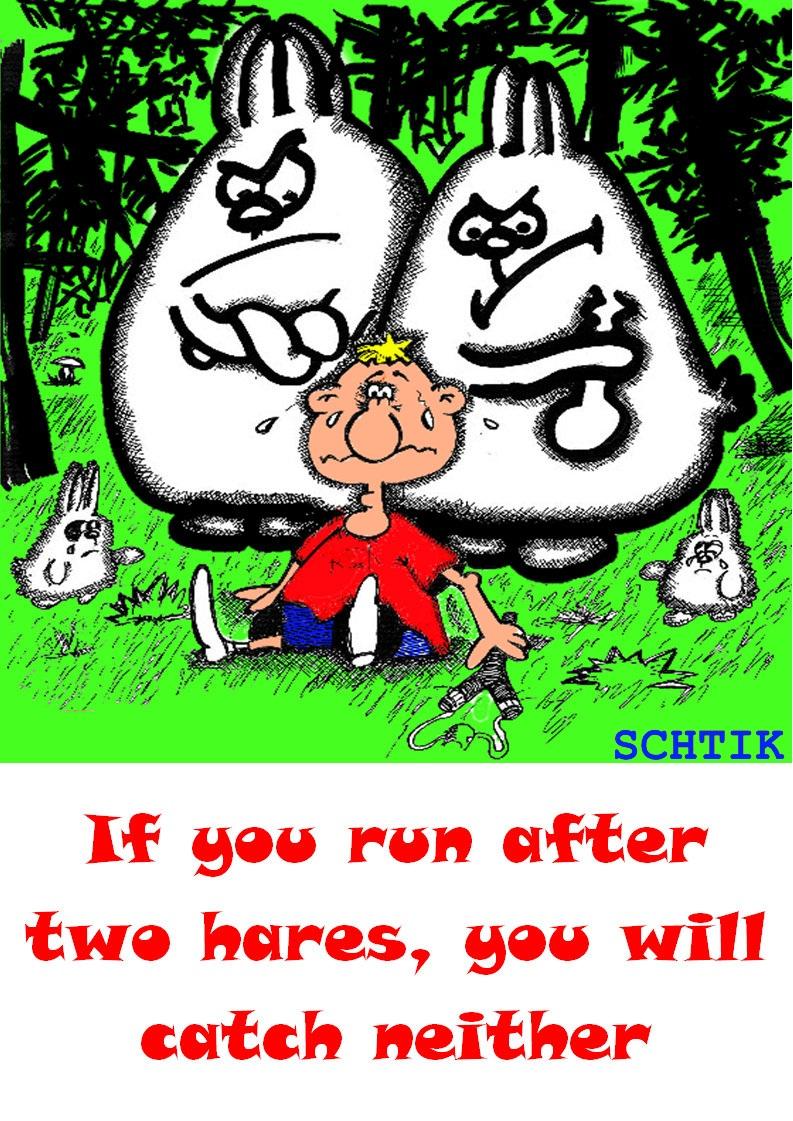 За двумя зайцами (по-английски)