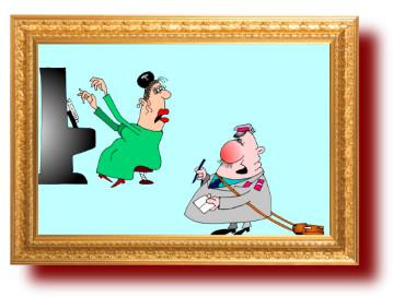 Прикольный анекдот в смешных картинках про Бетховена