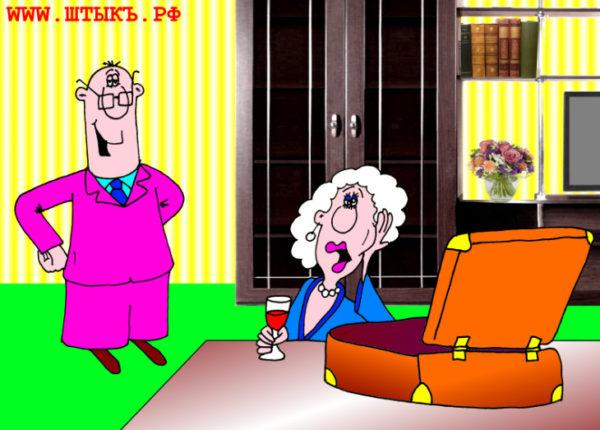 Смешнейший анекдот с карикатурой про женщину и ноутбук
