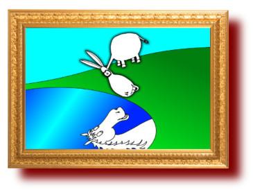 Афоризм с карикатурой про идиотов